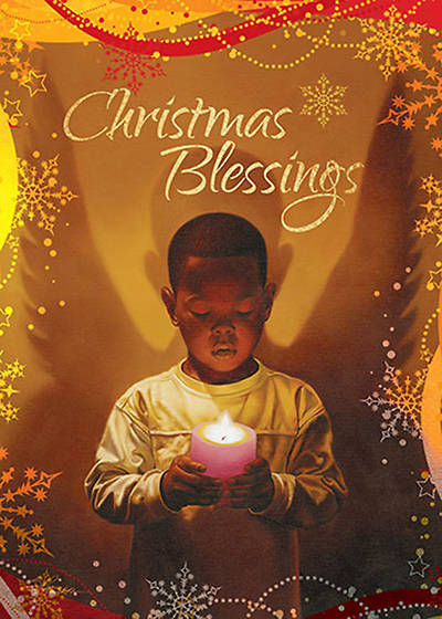Christmas Blessings Candle Boxed Cards