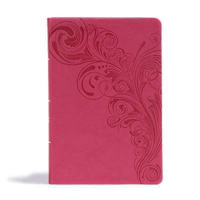 Picture of CSB Giant Print Reference Bible, Pink Leathertouch