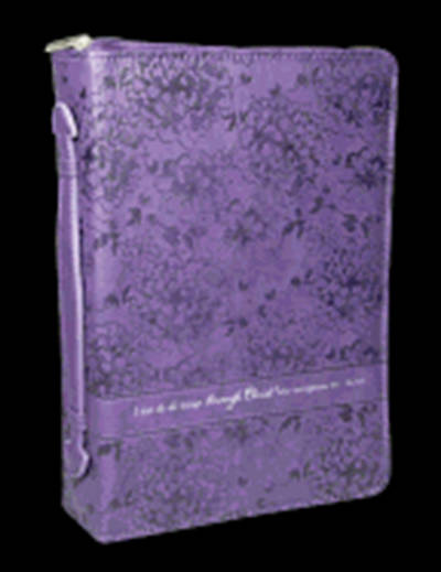 Picture of Purple Luxleather Phil 4 Large Print Bible Cover