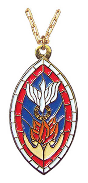 "Seal of the Holy Spirit 1 1/8"" Pendant"