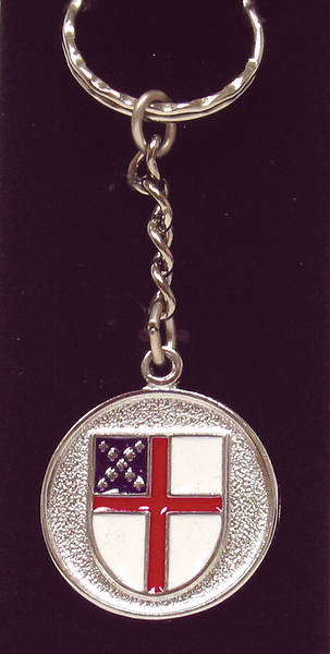 Episcopal Shield Key Ring (#9)