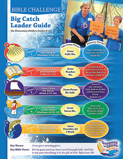 Concordia VBS 2014 Gangway to Galilee Big Catch Bible Challenge Leader Guide w/CD