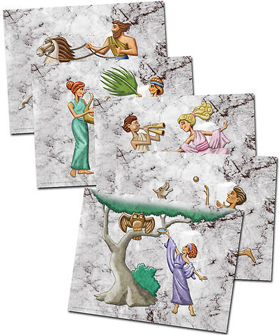 Group VBS 2013 Athens God Sightings Frieze Figures (pkg. of 50, enough for 10  Oikoi)