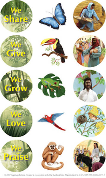Augsburg Vacation Bible School 2008 Rainforest Adventure Stickers (Package of 10 sheets) VBS