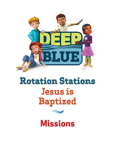 Picture of Deep Blue Rotation Station: Jesus Is Baptized - Missions Station Download
