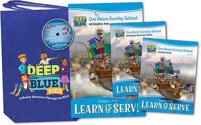 Deep Blue Kids Learn & Serve One Room Sunday School Kit Summer 2018