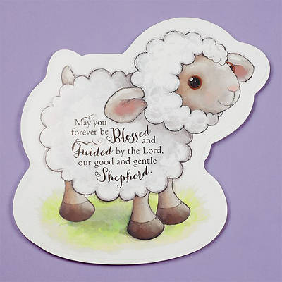 Baptism Lamb Shaped Plq