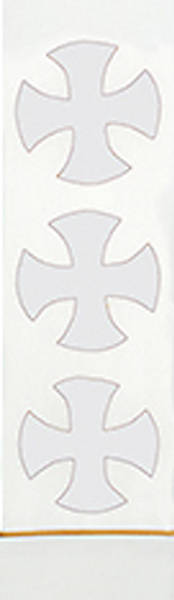 Picture of White St. Thomas Crosses Stole