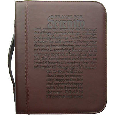 Serenity Prayer - Brown Bible Cover - Large