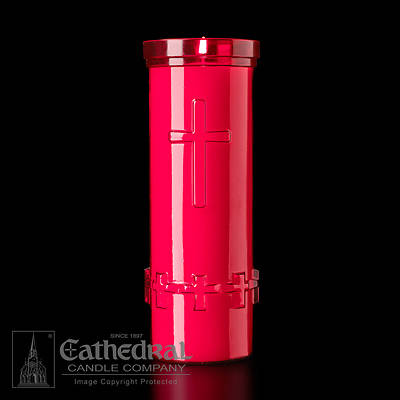Picture of Cathedral Devotiona-Lites Plastic Offering Lights - 6 Day, Ruby