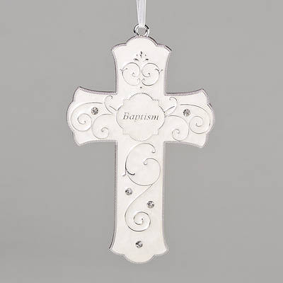 "Picture of Hanging Baptism Cross 7.25""H"