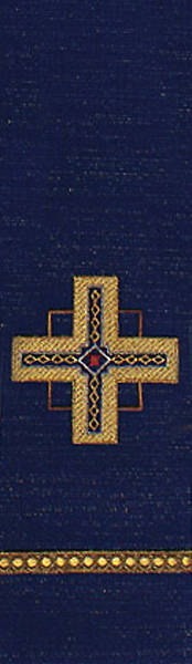 Kingdom Cross Lurex Stole - Blue