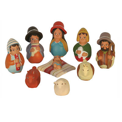 Picture of Ceramic Musician Wiseman Nativity Set