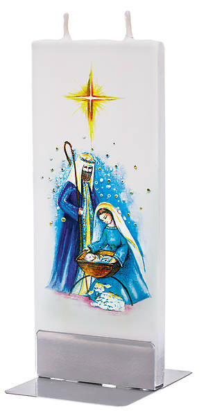 Picture of Handmade Flat Candle Nativity Scene