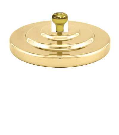 Artistic Brass Bread Plate Cover with Knob Handle