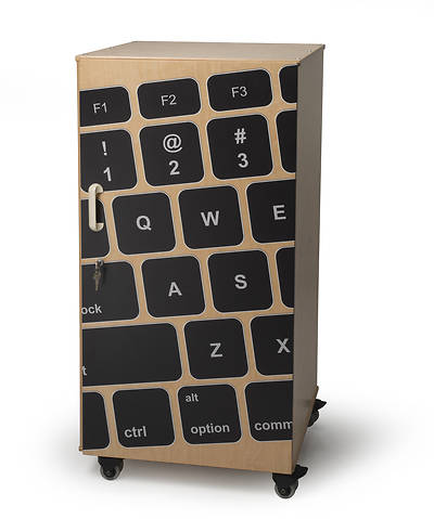 Laptop Security Cabinet With Keyboard Image
