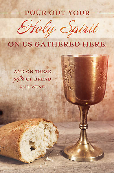 Picture of Communion Pour Out Your Holy Spirit Bulletin Regular