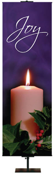 Photo Series Joy Purple Advent Banner 2 x 6