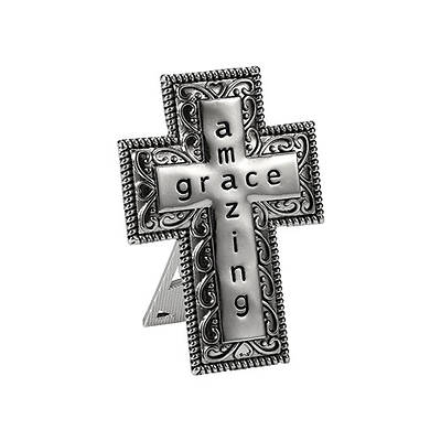 """Picture of Amazing Grace Bedside Table Cross 2.5"""""""