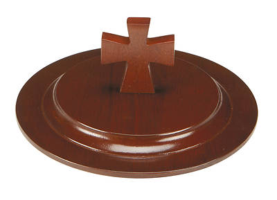 Maple Stacking Bread Plate Cover - Walnut Finish