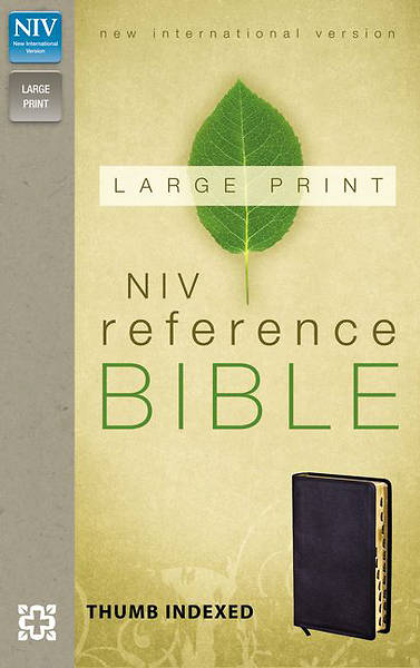 NIV Reference Bible, Large Print Black Bonded Leather Black Bonded Leather