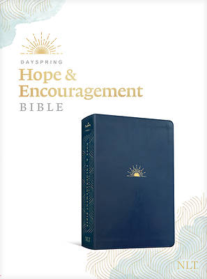 Picture of NLT Dayspring Hope & Encouragement Bible (Leatherlike, Navy Blue)