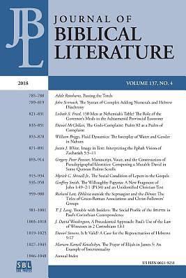 Journal of Biblical Literature 137 4 (2018)