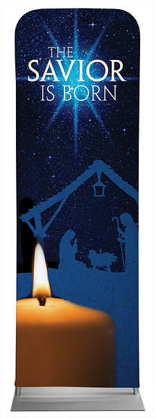 Picture of The Savior is Born Christmas Sleeve Banner