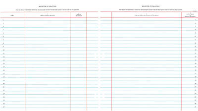 Picture of Westminster Church Register Binder Sheets – Deacons