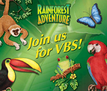 Augsburg Vacation Bible School 2008 Rainforest Adventure Invitation Postcard (package of 25) VBS
