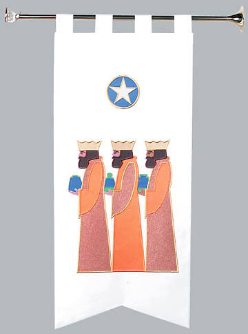 Banner 2x4 Star With Three Wisemen