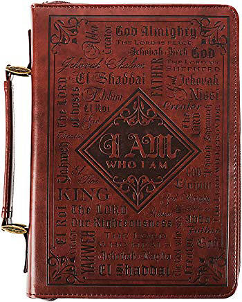 Picture of Bible Cover Lux-Leather Names Medium