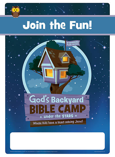 Standard Vacation Bible School 2013 Gods Backyard Bible Camp Under the Stars Publicity Posters (pkg 5)