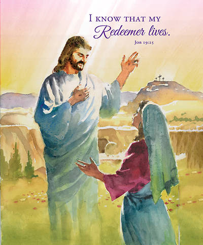 Picture of I Know That My Redeemer Lives Easter Legal Size Bulletin (Pkg of 100)