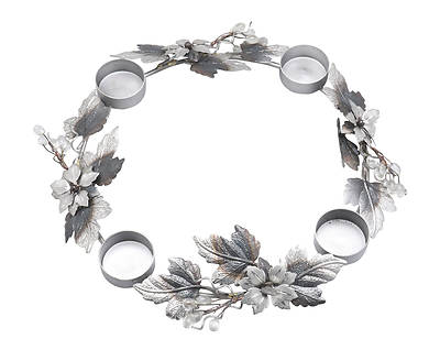 Picture of Metal Table Top Wreath with 4 Tealight Holders, 17""