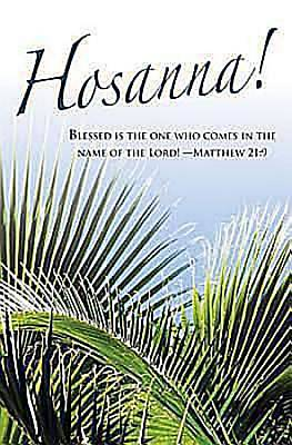 Hosanna! Palm Sunday Bulletin 2012, Regular Size (Package of 50)