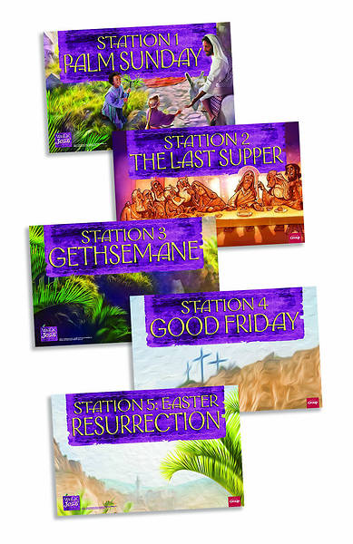 Picture of Walk with Jesus Station Posters Pkg of 5