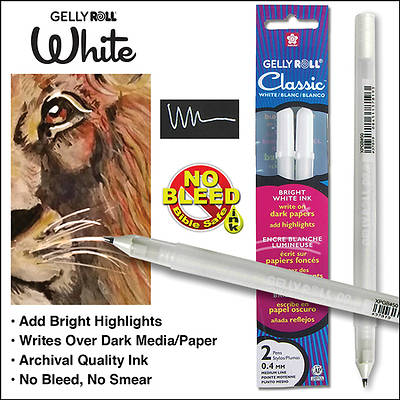 White Gelly Roll Classic 08 Med (Pkg of 2)