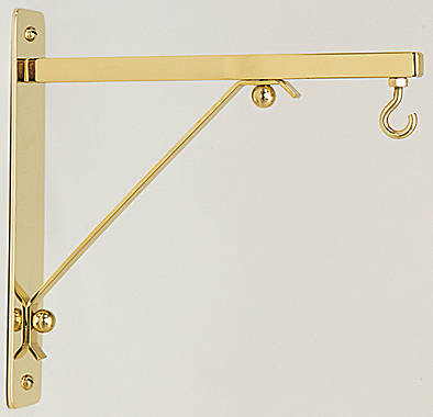 Koleys K210 Sanctuary Lamp Wall Bracket - Polished Brass