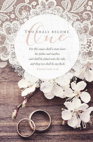 Picture of Two Shall Become One Ephesians 5:31 Wedding Regular Size Bulletin