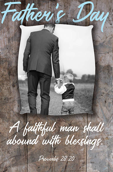Faithful Man Father's Day Regular Size Bulletin