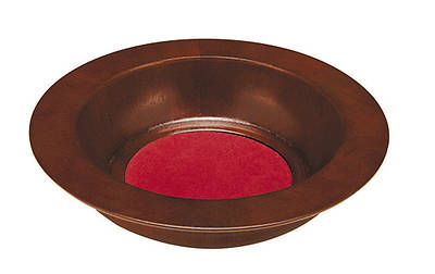 Maple Offering Plate with Burgundy Felt Pad - Walnut Finish