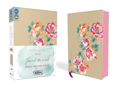 NIV, Journal the Word Bible for Teen Girls, Imitation Leather, Gold/Floral