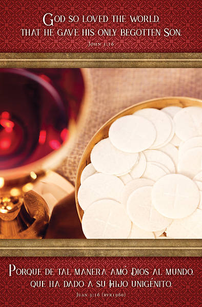 Picture of God So Loved Bilingual Communion Regular Size Bulletin