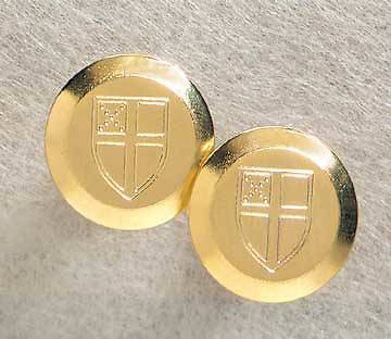 Cufflinks Gold Plated Brass Circular Episcopal