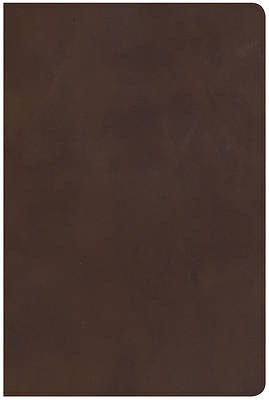NKJV Giant Print Reference Bible, Brown Genuine Leather