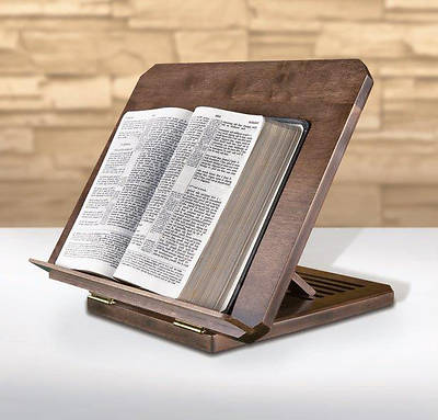 Picture of Bible/Missal Stand with Silk-Screened Bible Verse