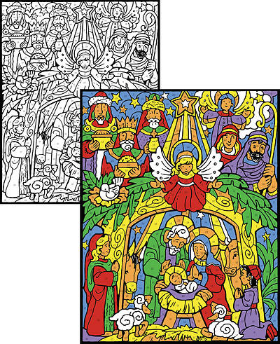 Picture of Colorful Nativity Color Your Own Advent Calendar