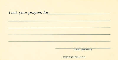 Prayer Request Card (Pkg of 25)