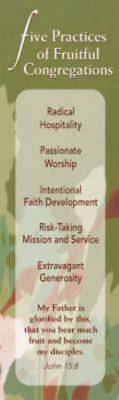 Five Practices of Fruitful Congregations Bookmark (Pkg of 25)